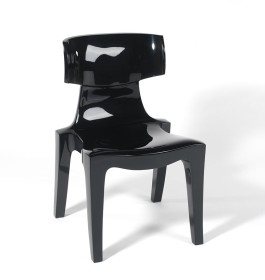 Plastic Klismos stacking chair